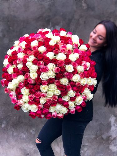Букет из роз FLAMINGO