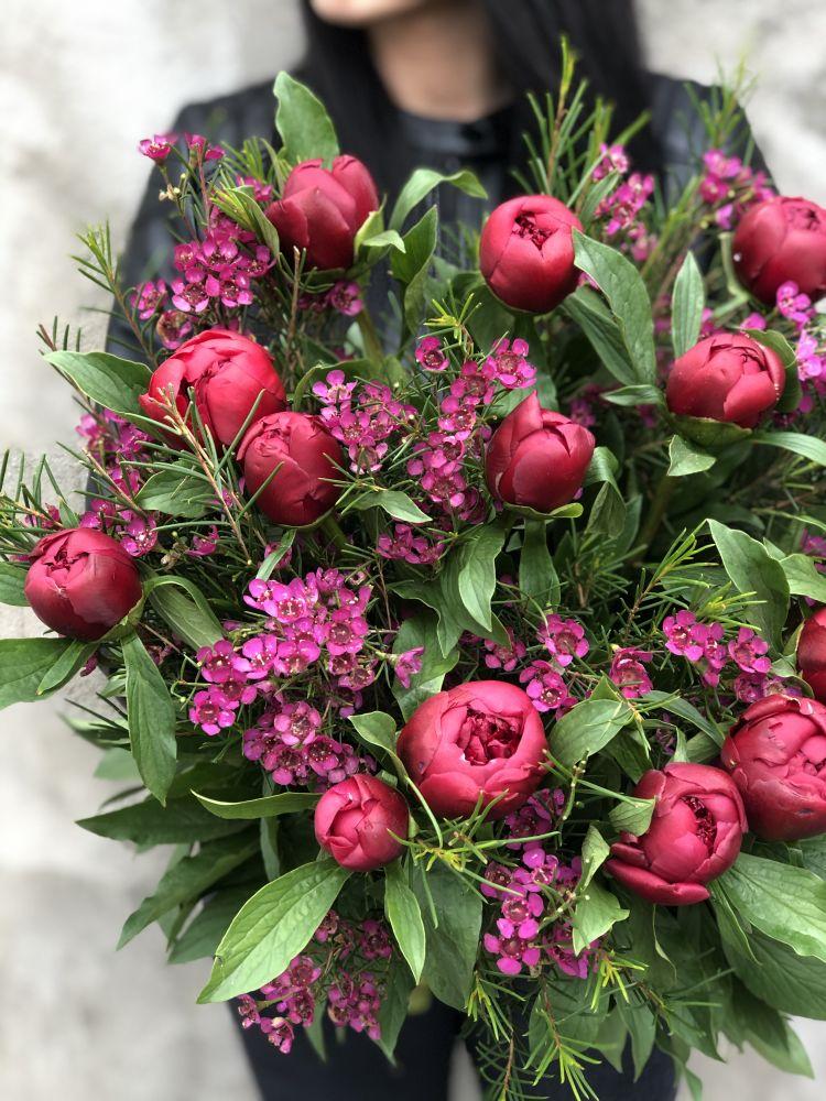 Ziedu pušķis RED GLORY