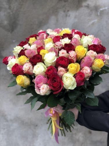 Rožu pušķis RAINBOW