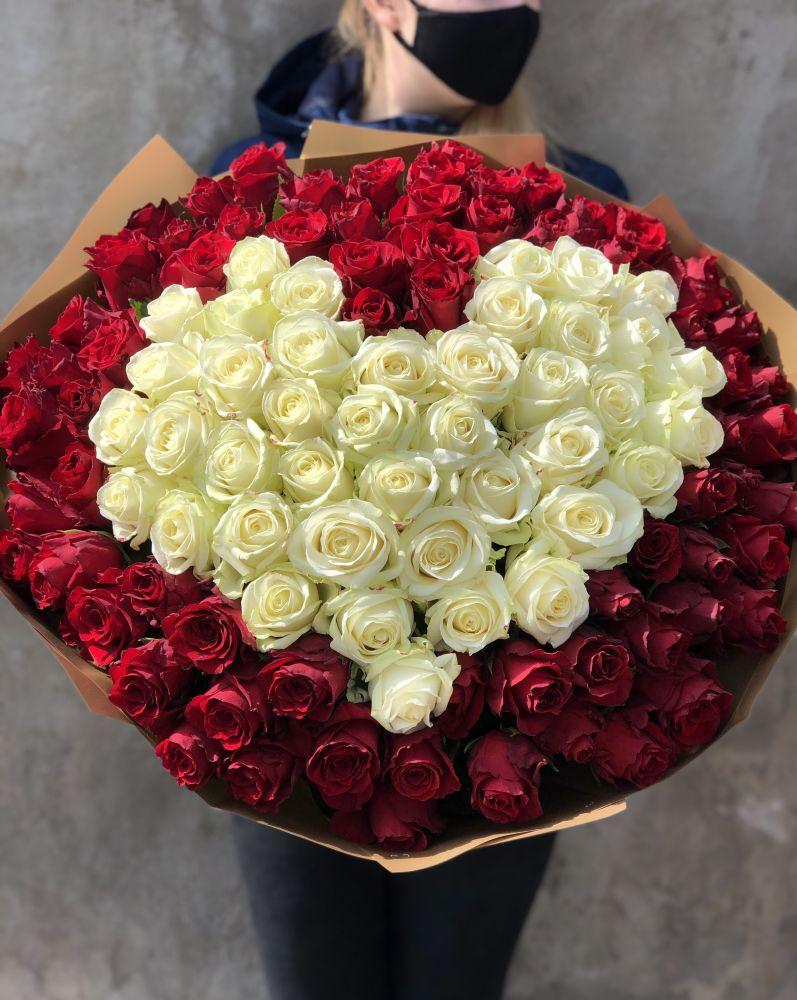 Rožu pušķis HEART