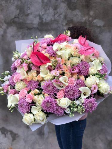 Ziedu pušķis FANCY-PINK