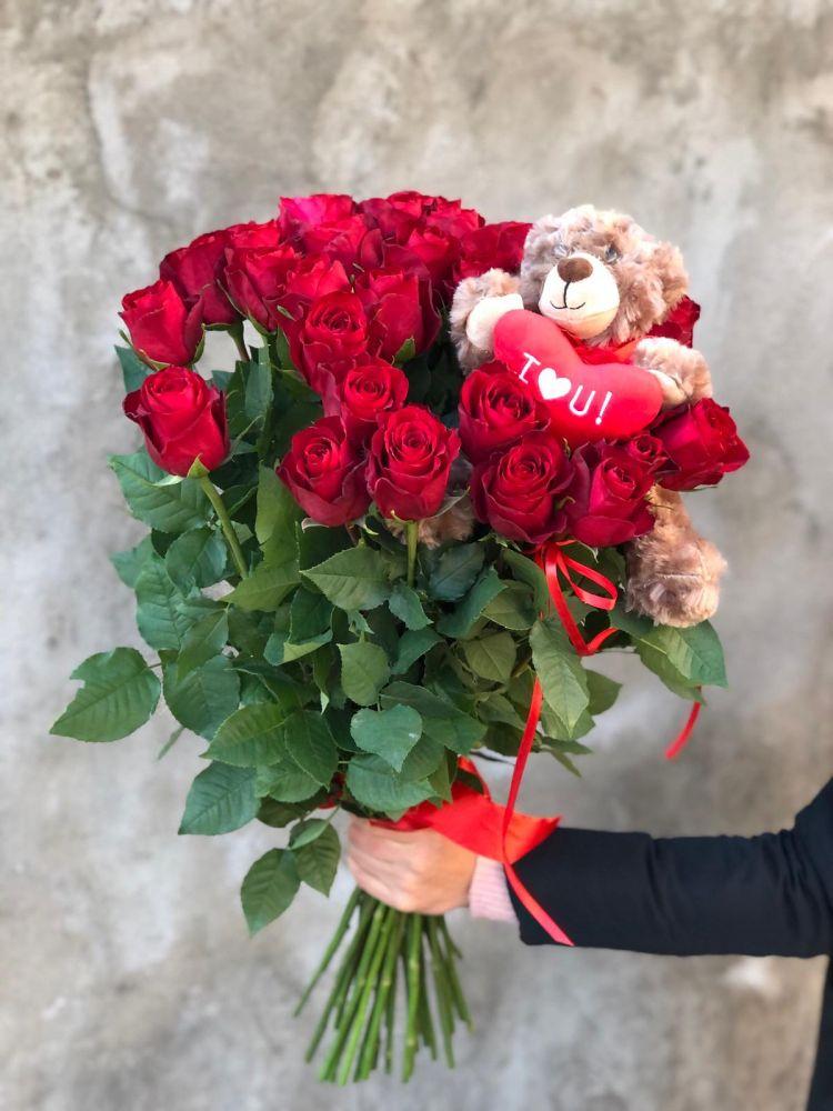 Букет из роз I LOVE YOU