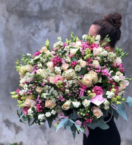 Ziedu pušķis PINK LAVANDER