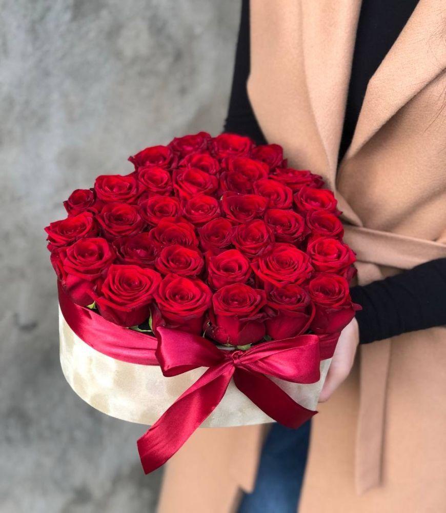 Цветочная коробка RUBY-RED