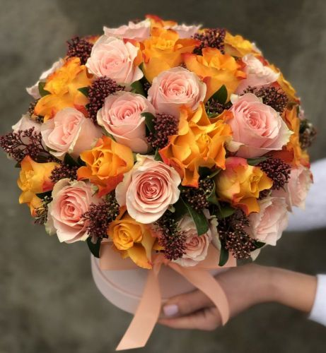 Цветочная коробка CORAL SUNSET