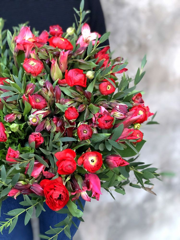 Ziedu pušķis RED FIRE